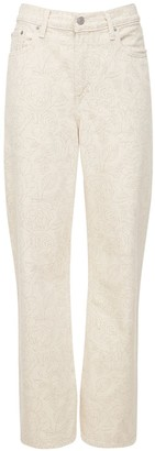 Ganni Levi's Flower Print Denim Jeans