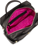 Botkier Honore Large Leather Satchel Bag, Black