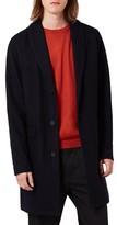 Topman Men's Wool Blend Shawl Collar Topcoat