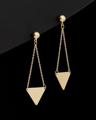 Italian Gold 14K Triangle Drop Earrings