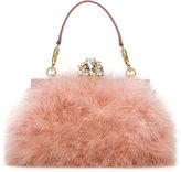 Dolce & Gabbana 'Vanda' clutch - women - Calf Leather/Acrylic/Wool/Turkey Feather - One Size