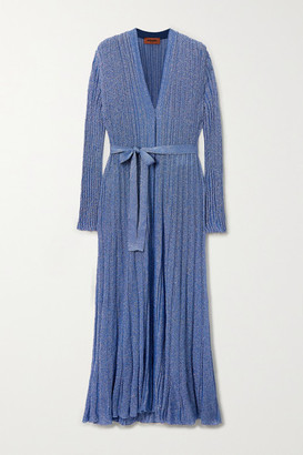 Missoni Belted Lurex Cardigan - Blue
