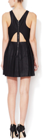 Dolce Vita Alda Faux Leather Fit and Flare Dress