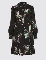 Marks and Spencer Printed Long Sleeve Shirt Dress