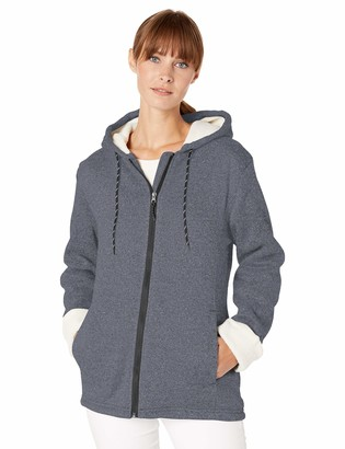 Big Chill Women's Sweater Jacket with Faux Fur Lining