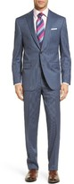 David Donahue Men's Ryan Classic Fit Stripe Wool Suit