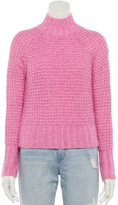 So Juniors' Feather Chenille Mockneck Sweater