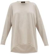 eskandar Boat-neck Cashmere Sweater - Womens - Light Grey