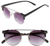 BP Women's 50Mm Double Bridge Sunglasses - Black