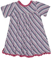 Kickee Pants Print Swing Dress (Baby)-Sailaway Stripe-Girl-6-12 Months