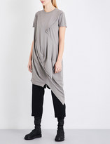 Drkshdw Asymmetric cotton-jersey top
