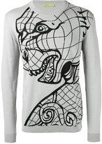 Versace tiger print sweatshirt - men - Cotton/Viscose - M