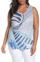 Nic+Zoe Plus Size Women's Palm Lines Top
