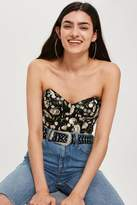 Topshop Embroidered floral corset top