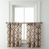 Asstd National Brand Cabin Plaid Rod-Pocket Window Tiers