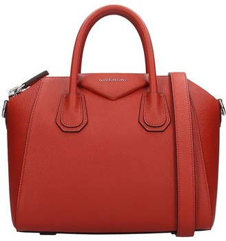 Givenchy Antigona Small Hand Bag In Orange Leather