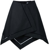 J.W.Anderson asymmetric hem skirt - women - Cotton - 8