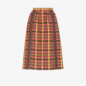 Gucci High waist tweed midi skirt