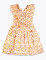 Marks and Spencer Cotton Ditsy Floral Print Dress (2-7 Years)