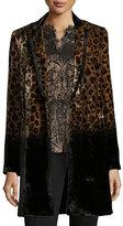 Elie Tahari Pam Leopard-Print Velvet Coat