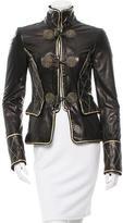Roberto Cavalli Metallic-Accented Leather Jacket