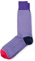 Paul Smith Two-Stripe Contrast-Block Socks