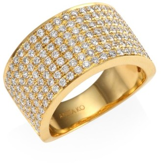 Anita Ko Diamond 18K Gold Marlow Band Ring