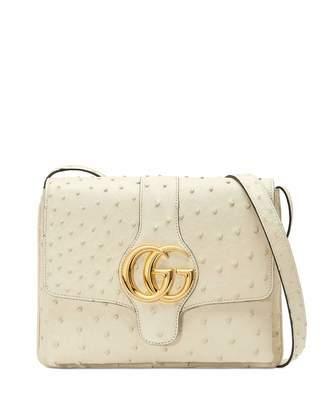 Gucci Arli Medium Ostrich Shoulder Bag