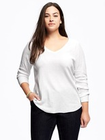 Old Navy Semi-Fitted Plus-Size Thermal Tee
