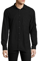 BLK DNM Solid Spread Collar Sportshirt