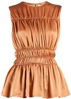 Roksanda Uma gathered-detail silk sleeveless top