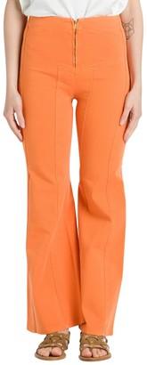 Alberta Ferretti High Rise Flared Trousers
