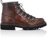 Franceschetti Men's Shearling-Lined Hiking Boots-DARK BROWN