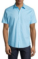 Zachary Prell Weinman Golf Club Short-Sleeve Sport Shirt, Turquoise