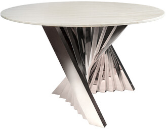 Statements By J Waterfall Marble Top Dining Table