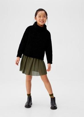 MANGO Wide pleated skirt khaki - 4-5 years - Kids