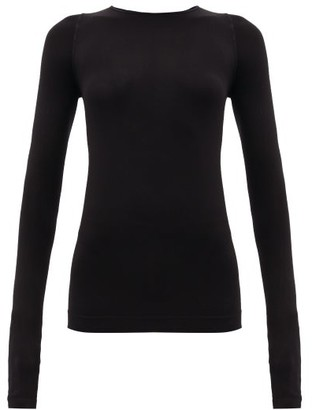 Rick Owens Long-sleeved Stretch-jersey Top - Black