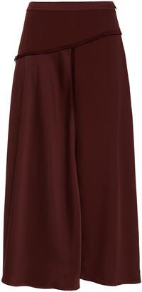 Charli Helena Wrap-effect Satin-crepe Midi Skirt
