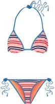 Diane von Furstenberg Striped Triangle Bikini - Pink