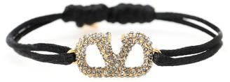Valentino VLOGO crystal-embellished cord bracelet