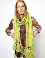 ASOS Wool Mix Wide Cable Scarf