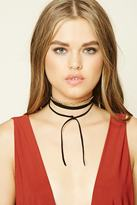 Forever 21 FOREVER 21+ Faux Suede Layered Chain Choker