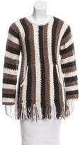 Raquel Allegra Striped Alpaca Sweater w/ Tags