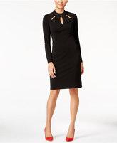 Thalia Sodi Mock-Neck Cutout Sheath Dress, Only at Macy's