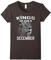 Women's Kings Are Born In December (GK) T-Shirt Medium