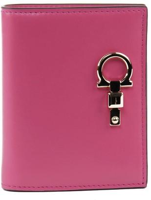 Salvatore Ferragamo Small Studio Wallet In Fuchsia Leather