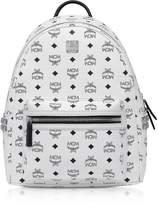 Mcm White SMD Visetos Stark Backpack