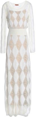 Missoni Burnout-effect Crochet-knit Maxi Dress