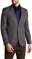 Ben Sherman Grey Plaid 2 Button Blazer