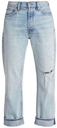 RE/DONE 90s Loose High-Rise Straight Cuffed Jeans